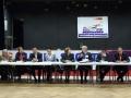 Elus et officiels alignés pour témoigner des 50 ans d'Handisport Lyonnais