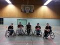 Photo d'équipe de la section basket fauteuil