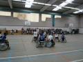 Les joueurs d'Handisport Lyonnais lors d'un match de championnat à Montpellier