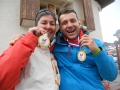 CECILE BLAZY ET BRICE LINCK MEDAILLES 2014 ARCON (Alpes)