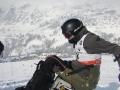 un skieur d'Handisport Lyonnais a St François Longchamp