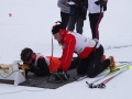 Séance de tir lors d'un biathlon