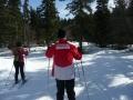 Une adhérente de la section ski nordique et son guide-pilote