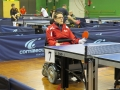 Fabien CLAVEL en plein match de tennis de table