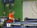 Paul SILVA en plein match de tennis de table