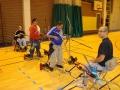Pause entre 2 séances de tir à l'arc lors d'une compétition régionale