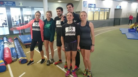 La section athlétisme lors du meeting indoor de Clermont Ferrand en 2016