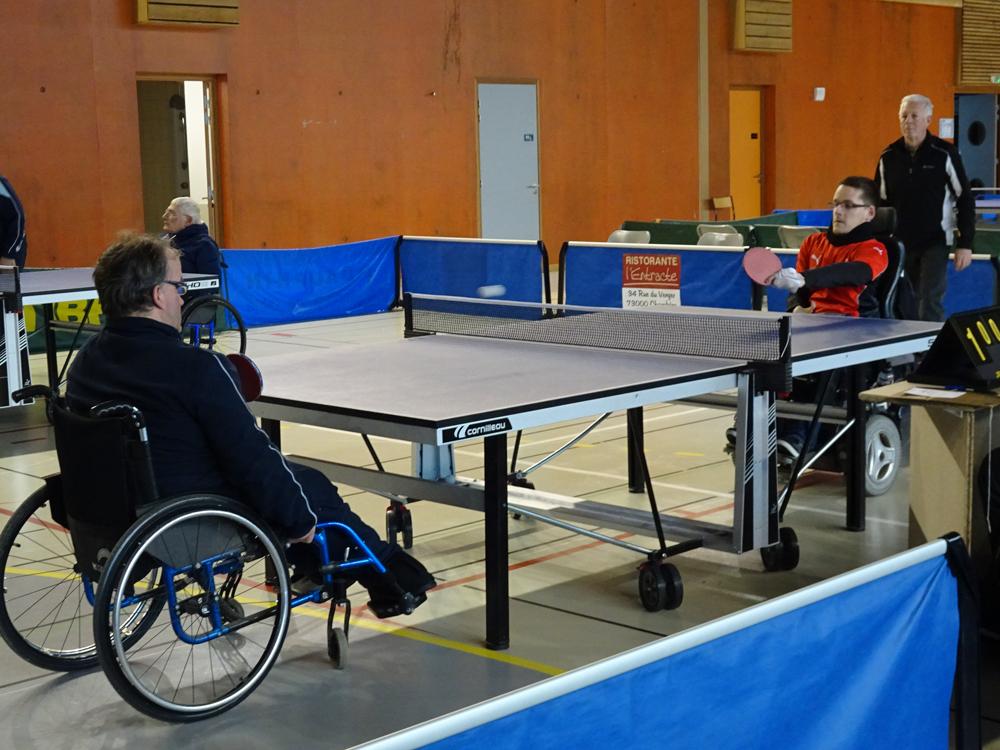 Tennis de table handisport lyonnais for Tennis de table lyon 6