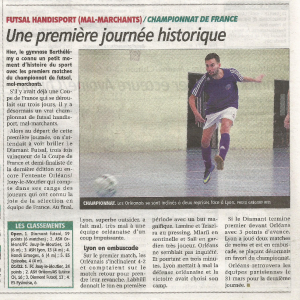 article rep journée 1 championnat de france 2019