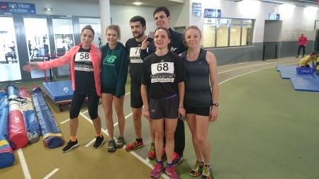 La section athlétisme lors du meeting indoor de Clermont Ferrand en 2016