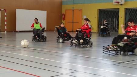 L'équipe 2 et 3 de Foot fauteuil en Championnat du 16 avril 2016